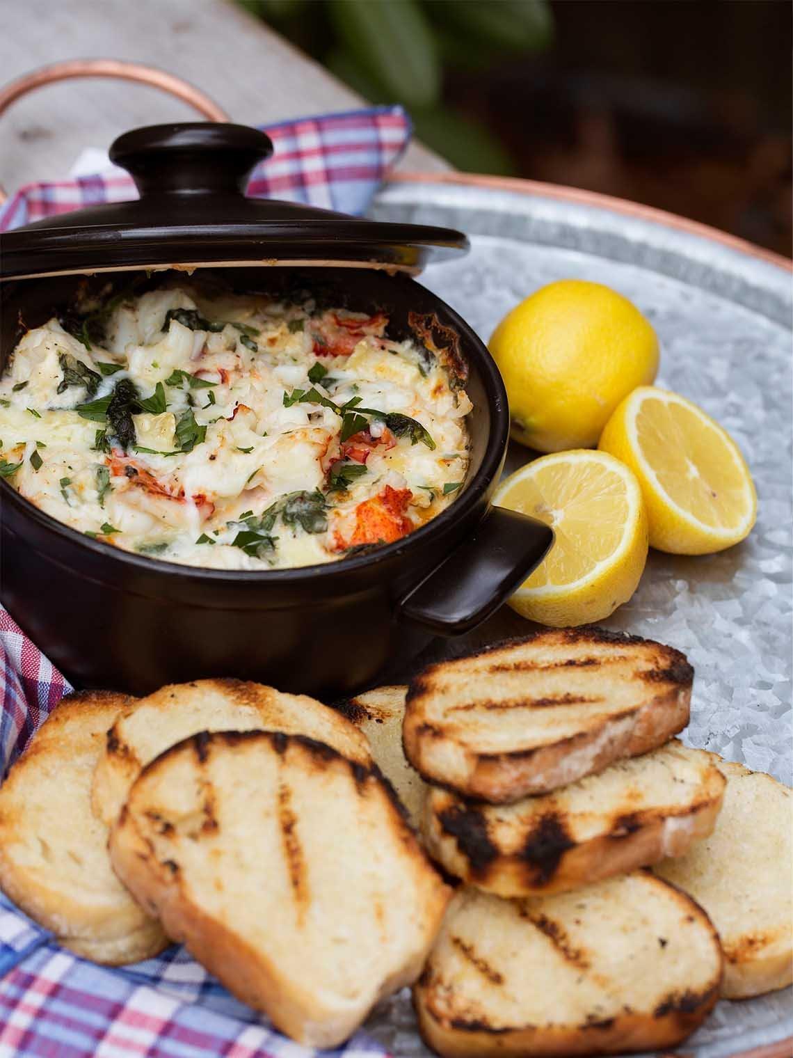 Baked Maine Lobster & Brie Dip