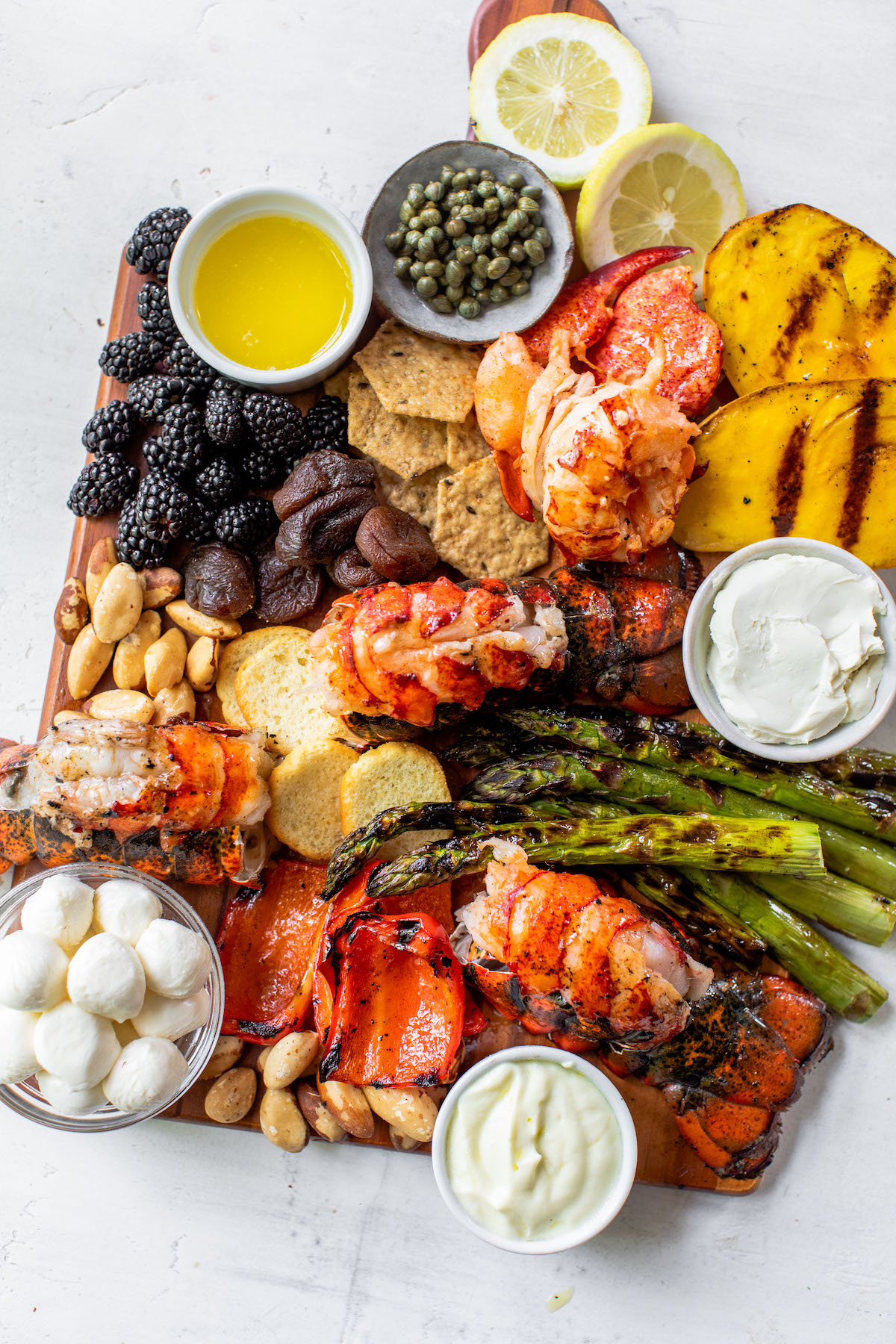 Grilled Maine Lobster Charcuterie Board