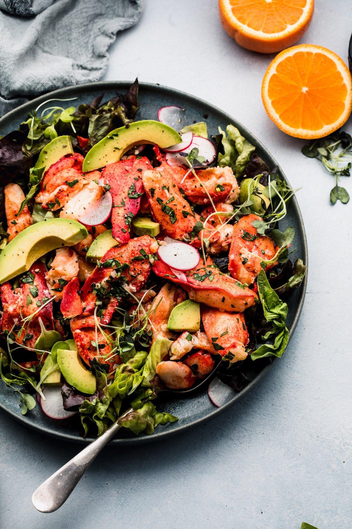 Chilled Maine Lobster with Orange & Basil Vinaigrette